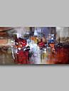 Peinture a l\'huile Hang-peint Peint a la main - Abstrait Paysage Contemporain Toile