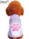 Câini / Pisici / Animale de Companie Tricou Îmbrăcăminte Câini Imprimeu / Motto & Zicale / Desene Animate Mov / Roz Bumbac Costume Pentru