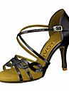 Femme Chaussures Latines / Chaussures de Salsa Paillette Brillante / Similicuir Sandale / Talon Boucle / Ruban Talon Personnalise