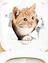 Koelkaststickers Toiletstickers - Dierlijke muurstickers Dieren 3D Woonkamer Slaapkamer Badkamer Keuken Eetkamer Studeerkamer / Kantoor