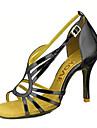 Femme Chaussures Latines / Chaussures de Salsa Paillette Brillante / Similicuir Sandale / Talon Boucle / Ruban Talon Personnalise / Cuir