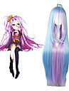Cosplay Wigs No Game No Life Shiro Blue Anime Cosplay Wigs 42 inch Heat Resistant Fiber Women\'s Halloween Wigs