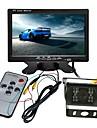 ZIQIAO 7inch TFT-LCD CCD Cable 120 Degres Kit de vue arriere de voiture Impermeable / Affichage multifonctionnel / Ecran LCD pour Camion