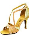 Pentru femei Pantofi Dans Latin / Sală Dans / Pantofi Salsa Satin Sandale Cataramă / Legătură Panglică Toc Personalizat Personalizabili