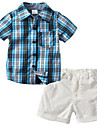 Copil Băieți Concediu Plisat Manșon scurt Bumbac Set Îmbrăcăminte