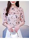 Pentru femei Stil Nautic Bluză Ieșire Floral