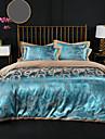 Duvet Cover Sets Luxury 100% Cotton / Silk / Cotton Blend / Cotton Jacquard Printed & Jacquard 4 PieceBedding Sets / 300 / 4pcs (1 Duvet Cover, 1 Flat Sheet, 2 Shams)