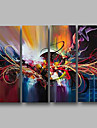 Oil Painting Hand Painted - Abstract / Landscape Comtemporary Canvas