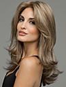 Syntetiska peruker Naturligt vågigt Middle Part Syntetiskt hår Värmetåligt / Mittbena Blond Peruk Dam Mellan Utan lock