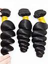 3 Bundler Peruviansk hår Bølget 8A Menneskehår Menneskehår, Bølget Hårforlængelse af menneskehår 8-28 inch Naturlig Farve Menneskehår Vævninger Moderigtigt Design Bedste kvalitet Ny ankomst / Lågløs