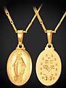 Pentru femei Coliere cu Pandativ / Coliere - 18K Placat cu Aur Σταυρός Vintage, Petrecere, Birou Auriu, Argintiu Coliere 1 buc Pentru Petrecere, Ocazie specială, Zi de Naștere