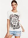Pentru femei Tricou Șic Stradă - Plisat Imprimeu