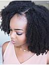 Remy kosa Lace Front Perika Stražnji dio stil Brazilska kosa Afro Kinky Crna Perika 250% Gustoća kose s dječjom kosom Žene Najbolja kvaliteta Prirodna linija za kosu neprerađenih Crna Žene Srednja
