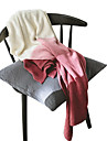 Sofa Throw, Solid Colored Cotton / Polyester Comfy Blankets