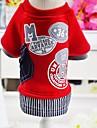 Rozătoare / Câini / Pisici Hanorca Îmbrăcăminte Câini Alte / Caracter Gri / Rosu Bumbac Costume Pentru animale de companie Femeie Împletite / Cordon / Cute Stil