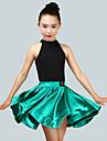 الرقص اللاتيني أزياء فتيات أداء سباندكس ruching في بدون كم ارتفاع متوسط تنانير / / قمصان الرضعثوب الراقص