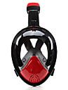 Dykning Masker Snorkelmaske Helmaske Undervands 180 grader Enkelt Vindue - Svømning Dykning Silikone - til Voksen Børn Gul Rød Blå / Lækagesikker / Anti-Tåge
