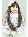NPKCOLLECTION MUNECA NPK Munecas reborn Muneca chica Bebes Ninas 24 pulgada Regalo Bonito Artificial Implantation Brown Eyes Kid de Chica Juguet Regalo