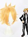 Min Helt Academia Kaminari Denki Alle 12 inch Varmeresistent Fiber Gylden Anime Cosplay Parykker