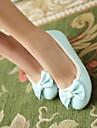 Γυναικεία Βρετανικά στυλ παπούτσια PU Ανοιξη καλοκαίρι Ανατομικό Χωρίς Τακούνι Επίπεδο Τακούνι Κλειστά Δάχτυλα Μαύρο / Μπλε / Ροζ
