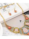 Pentru femei Coliere cu Pieptar Set bijuterii - Reșină, Ștras Boem, Africa, Plin de Culoare Include Coliere / Cercei Dangle Curcubeu Pentru Petrecere / Vacanță / Σκουλαρίκια