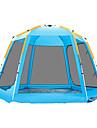 TANXIANZHE® 6 איש אוהל עם הצללה אוהל בית עם הצללה חיצוני עמיד עמידות UV מוגן מגשם שכבה כפולה אוטומטי קמפינג אוהל 2000-3000 mm ל מחנאות / צעידות / טיולי מערות פיקניק בד אוקספורד polyster 360*360*190 cm