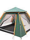 TANXIANZHE® 4 شخص أوتوماتيكي الخيمة في الهواء الطلق خفة الوزن ضد الهواء مقاوم للأشعة فوق البنفسجية طبقات مزدوجة أوتوماتيكي خيمة التخييم 2000-3000 mm إلى Camping / Hiking / Caving تنزه قماش اكسفورد