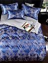 Duvet Cover Sets Luxury Polyster Jacquard 4 PieceBedding Sets / 400 / 4pcs (1 Duvet Cover, 1 Flat Sheet, 2 Shams)