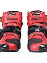 モーターサイクルバイクブーツモトクロスレーシングブーツ防水バイカーアンクルモトシューズを保護する - 赤