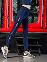 Damen Ausgeschnitten Yoga-Hose - Schwarz, Koenigsblau Sport Volltonfarbe Strumpfhosen / Lange Radhose / Leggins Laufen, Fitness, Fitnessstudio Sportkleidung Atmungsaktiv, Push-Up Hosen, Power Flex