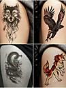 10 pcs Временные татуировки Тату с тотемом / Тату с животными Гладкий стикер / Безопасность Искусство тела рука / Временные татуировки в стиле деколь