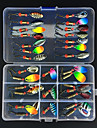 31 pcs ที่ลวงตาในเบ็ด Spoons Metal ใช้งานง่าย Sinking ตกปลาทะเล Fly Fishing เบทคาสติ้ง / ตกปลาบนธารน้ำแข็ง / Spinning / การตกปลาแบบ Jigging / ปลาน้ำจืด / การตกปลาคารฺ์พ