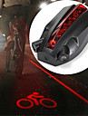 Lézer LED Kerékpár világítás hátsó lámpák Hegyi biciklizés Kerékpározás Vízálló Kreatív Tartós Újratölthető elem 100 lm Piros Kerékpározás / ABS