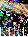 8 pcs 3D наклейки на ногти Звезда маникюр Маникюр педикюр Лучшее качество Мода / Цветной Повседневные / фестиваль