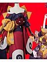 Inspirado por Destino / Grand Order Katsushika Hokusai Anime Disfraces de cosplay Trajes Cosplay Flor Lazo / Chaqueta de Kimono / Para la Cabeza Para Mujer