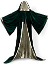 Elf Pastor Coat Cosplay Costume Witch Broom Halloween Props Masquerade Adults Adults\' Men\'s Cosplay Lolita Medieval Christmas Halloween Carnival Festival / Holiday Satin Velvet Green / Blue / Dark
