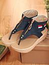 Per donna Scarpe comfort Denim Estate Sandali Piatto Blu / Azzurro chiaro