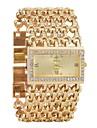 Γυναικεία Βραχιόλι Ρολόι Diamond Watch χρυσό ρολόι Χαλαζίας Ασημί / Χρυσό Ημερολόγιο Χρονογράφος Εσωτερικού Μηχανισμού Αναλογικό κυρίες Πολυτέλεια Μοντέρνα - Χρυσό Ασημί / Ενας χρόνος / Ενας χρόνος