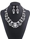 Pentru femei Alb Cristal Clasic Set bijuterii - Inimă, Gypsophila Lux Include Lănțișor Argintiu / Rosu Pentru Nuntă Petrecere