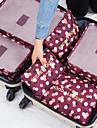 6 juegos Organizador de viajes / Organizador para viaje Gran Capacidad / Impermeable / Portatil Sujetador / Ropa Nailon Viaje