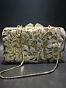 Γυναικεία Τσάντες Κράμα Βραδινή τσάντα Κρυστάλλινη λεπτομέρεια / Με Τρύπες Συμπαγές Χρώμα Χρυσό