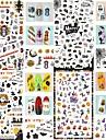 4 pcs Foil Sticker Creative nail art Manicure Pedicure Best Quality Guro Lolita Halloween