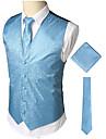 رجالي أزرق XL XXL XXXL Vest الأعمال التجارية / عتيق طباعة طباعة / بدون كم / عمل / نصف رسمي