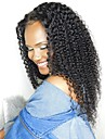 Remy Human Hair Unprocessed Human Hair Lace Front Wig Brazilian Hair Kinky Curly Jerry Curl Wig 130% Density with Baby Hair Natural Hairline African American Wig For Black Women Bleached Knots Natural