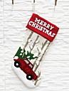 عطلة زينة ديكور عيد الميلاد المجيد عيد الميلاد / عيد الميلاد الحلي / جوارب عيد الميلاد عطلة أبيض 1PC