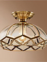 zdjela Flush Mount Ambient Light Brass Metal Glass Kreativan 110-120V / 220-240V Meleg fehér