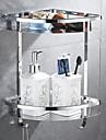 Banyo Rafı Multilayer Çağdaş Paslanmaz Çelik 1pc Duvara Monte Edilmiş