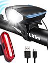 LED Kerékpár világítás Újratölthető biciklilámpa Kerékpár első lámpa Kerékpár hátsó lámpa Hegyi biciklizés Kerékpározás Páramentesítő Vízálló Hordozható Rechargeable Li-Ion Battery 1000 lm
