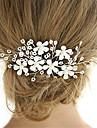 Imitație de Perle Clip de păr cu Flori 1 piesă Nuntă / Ocazie specială Diadema