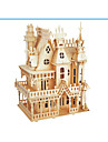 3D Puzzle Jigsaw Puzzle Wood Model Model Building Kit Castle Famous buildings Wood Natural Wood Adults\' Unisex Gift
